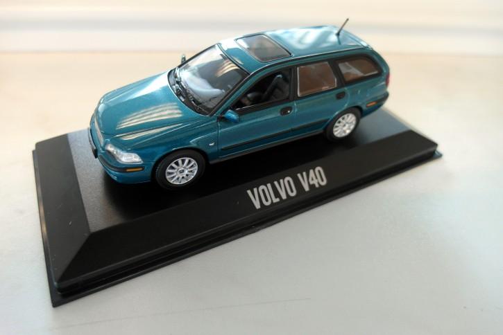 Modellauto Volvo V40 I Türkis Metallic 1:43