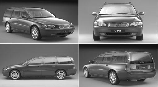 Volvo V70 II Dachreling Anthrazit 2000 - 2007
