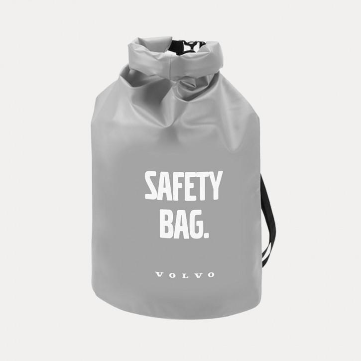 Volvo Seesack / Dry Bag in Grau, Wasserdicht