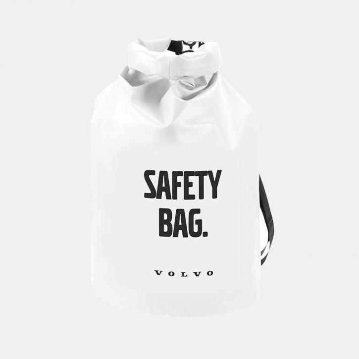 Volvo Seesack / Dry Bag in Weiß, Wasserdicht