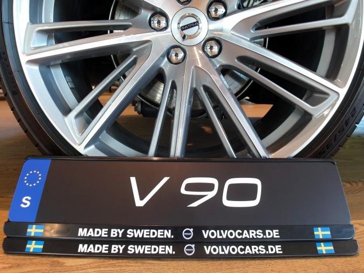 """Volvo Kennzeichenhalter """"Made by Sweden"""" (1 Set=2Stück)"""