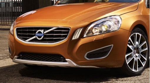 Volvo S60 / V60 Schutzplatte vorn in Aluminiumfinish 2010 - 2013