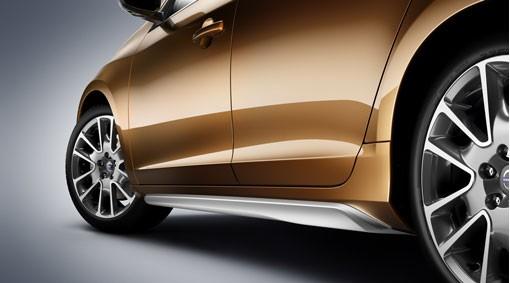 Volvo S60 Seitenschweller Silber mit Mattlack 2010 - 2013
