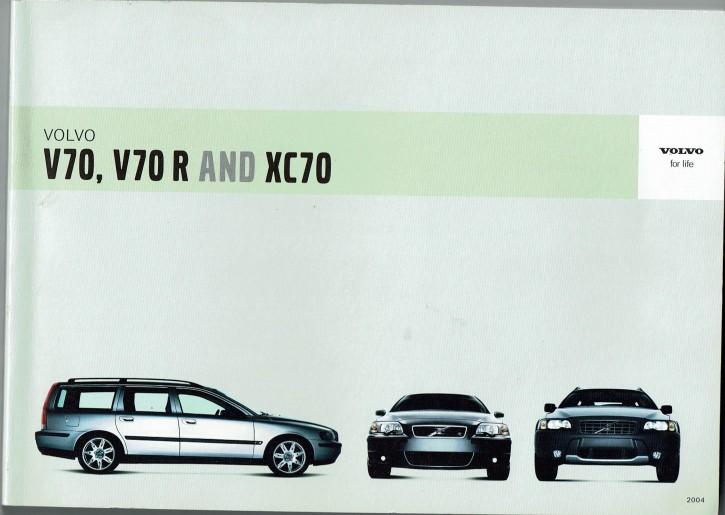 Volvo Bedienungsanleitung V70/V70R/XC70 MJ:2004