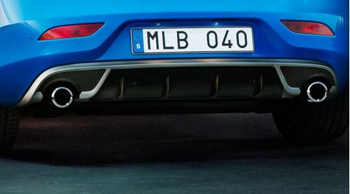 Volvo V40 Heckdiffusor R-Design incl. 2 Endrohre