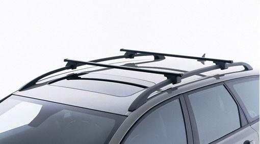 Volvo Lastenträger / Grundträger V50 mit Dachreling Vierkantprofil