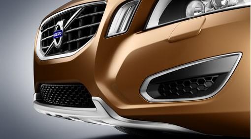 Volvo S60 / V60 Frontdekor / Dekorrahmen Silk Metall 2010 - 2013